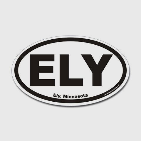 Ely Minnesota ELY Euro Oval Sticker Mn Sticker Oval by CafePress