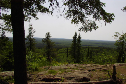 Lookout from Minnesota's Highest Point, Eagle Mountain, Photo by Lorraine Anderson